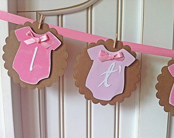 It's a Girl  Vintage style Onesies Baby shower Banner Free Shipping
