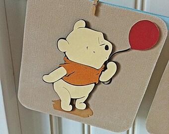 Vintage  Baby Winnie The Pooh Baby shower banner