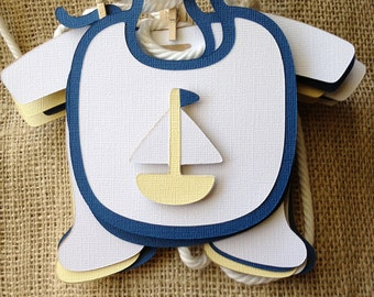 Nautical Baby boy Shower Banner