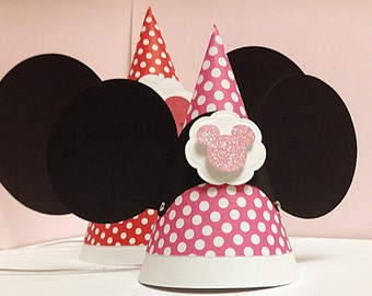 10 Mini - Minnie Mouse birthday Hats Package