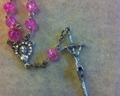 Our Lady decade rosary handmade