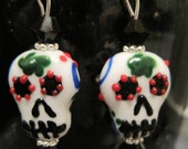 Getting to know you sale Darling sugar skull earrings with free silk gift bag