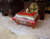 Vintage 1950s English Cookie/Biscuit Tin in a Jewelry Box Shape