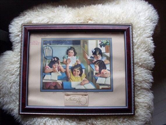 Vintage 1940s Dionne Quintuplets Calendar
