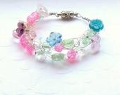 Crochet wire bracelet for little girls