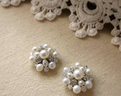 Freshwater Pearl Bubbles Stud Earrings