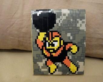 Megaman Bombman 8-bit Duct Tape Wallet
