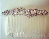 1950s Sparkly Vintage Rhinestone Hair Comb Wedding Prom Night Out