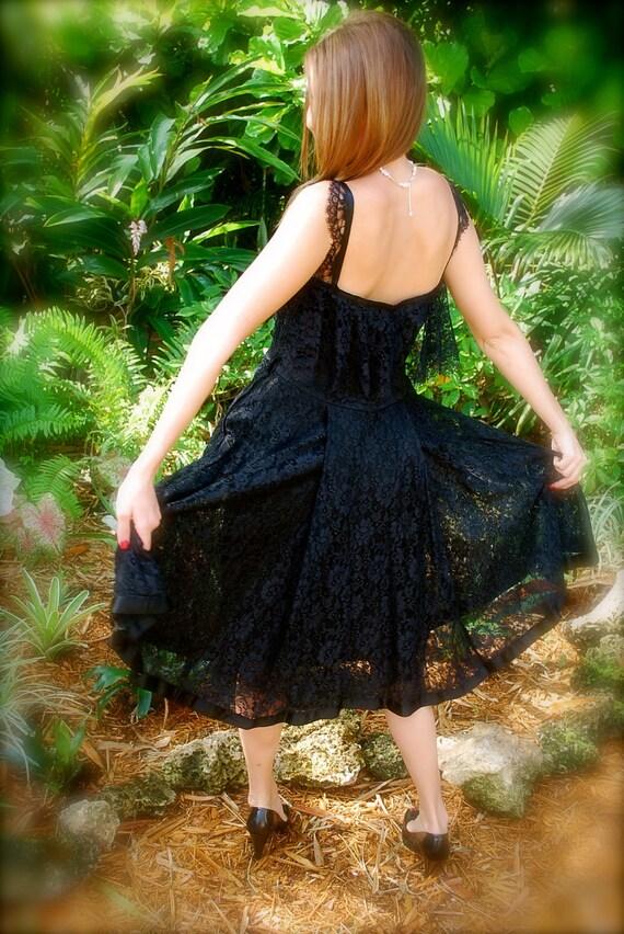 Beautiful 1950s Little Black Lace Dress