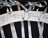 Wedding Chair signs, Weddings, Wedding Signs, Bride and Groom Chair Signs