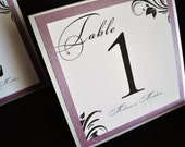 Wedding Table Numbers WITH CRYSTALS