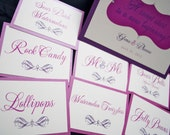 Wedding Candy Labels, Sweet table tags, escort cards