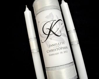 Wedding Unity Candle Set - Personalized Candles - Custom Wedding Unity Candle- Free Shipping