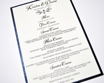 Wedding or Event Menus