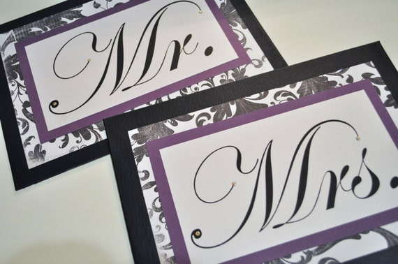 Wedding Mr. And Mrs. Signs..great photo props