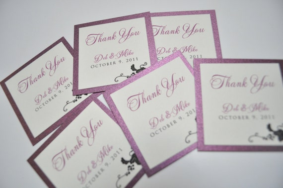 Wedding Favor tags, Welcome bag tags
