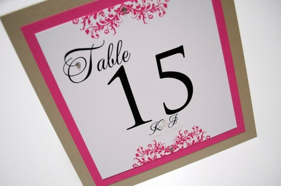 Table Numbers for weddings