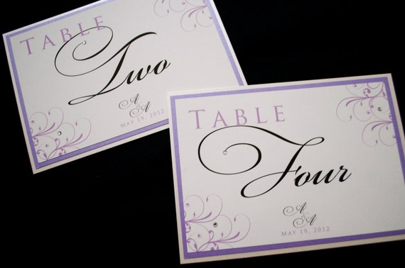 Table Numbers for weddings, Wedding Table Numbers, Weddings, Purple Weddings