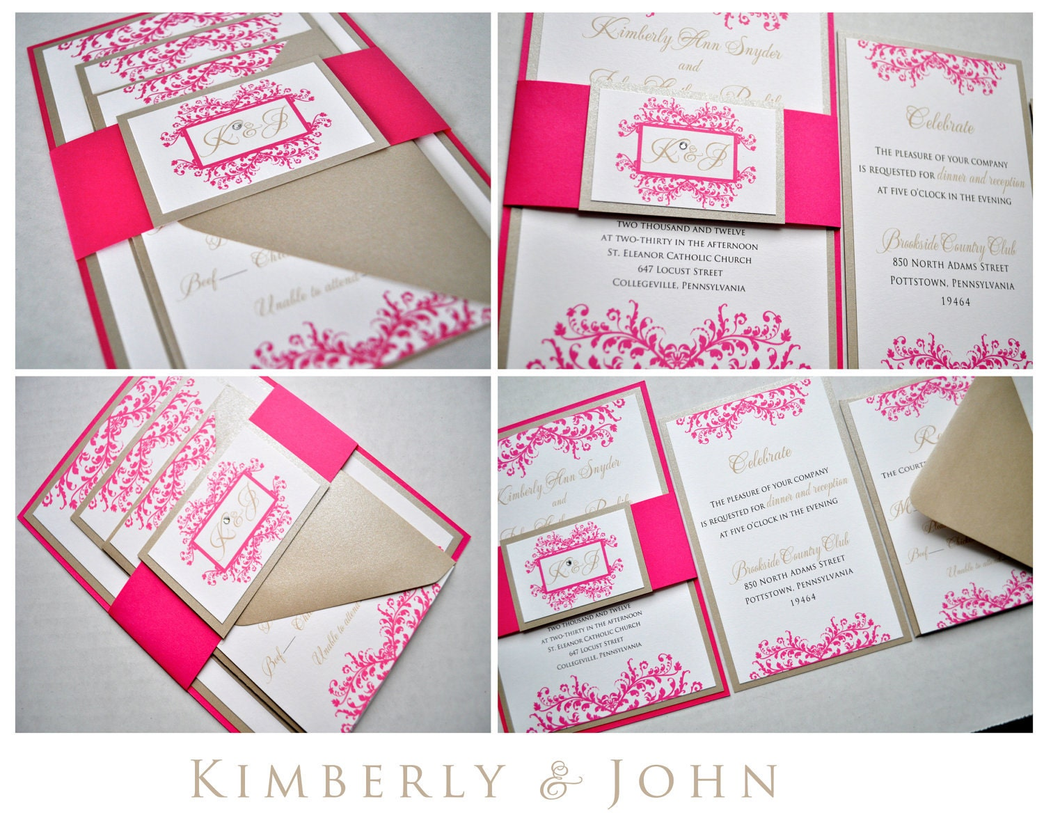 zoom - Layered Wedding Invitations
