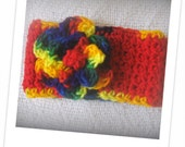 Crochet Headbnad to Fit Newborn, Toddler or Child  Cinco De Mayo Inspire Very Colorful
