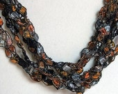 Tiger's Eye   - Crocheted Necklace