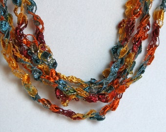 Sunset Sky  - Hand Crocheted Necklace
