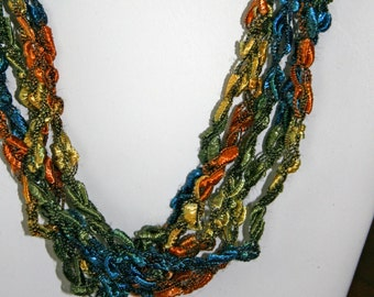 SALE! Tropical Breeze   - Crocheted Necklace
