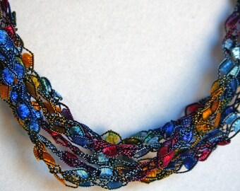Stained Glass - Crocheted Necklace