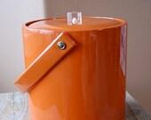 Vintage Go Go Orange Patten Ice Bucket