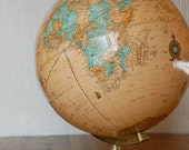 "Vintage Cram's Imperial World 12"" Inch Globe"