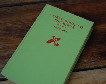 Vintage Copy of the Field Guide to Birds in Fresh Green by Roger Tory Peterson
