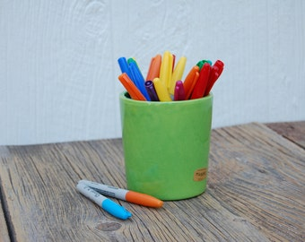Haeger Fresh Green Planting or Pencil Pot, YAY for Spring
