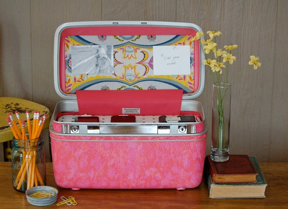 Vintage Samsonite Train Case Custom Charging Station for phones & iPods in color of your choice
