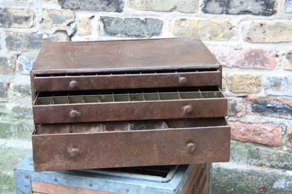 Vintage Industrial Machinist Chest of Drawers with Epic Patina