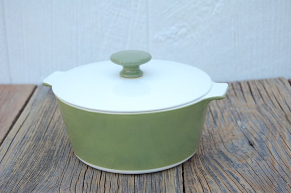 Vintage Corningware Covered Casserole in Lovely Green