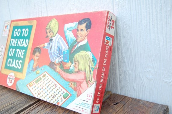 Reserved for Desiree Retro Milton Bradley Go to the Head of the Class Board Game 1966 Edition