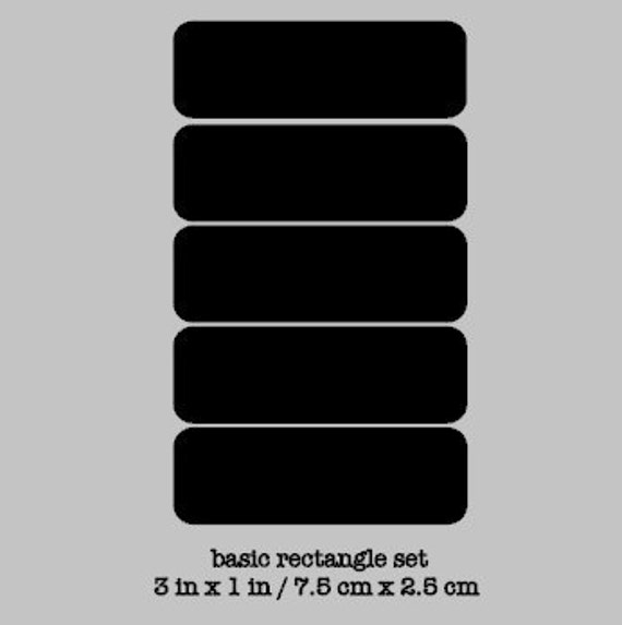 Chalkboard Labels - 10 Basic Rectangle Chalkboard Labels, Removable and Repositionable