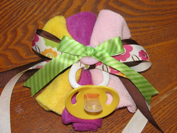 baby shower corsage by pitterpatterbliss on etsy