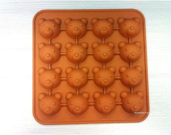 Bear Flexible Silicone Mold / Mold For Candy Chocolate Jewelry Jelly Cake Crafts