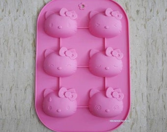 Hello Kitty Mold Flexible Silicone Mold Cake Mold Soap Ice Chocolate Mold Muffin Mold