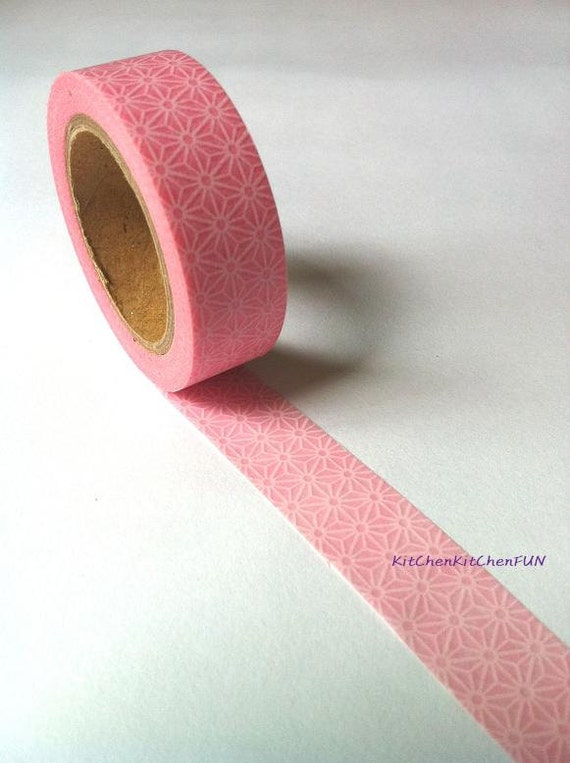 Washi Tape Japanese Masking Tape - Baby Pink Flower