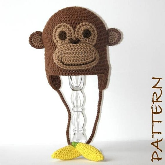 Crochet Animal Hat Pattern Montgomery the Monkey Earflap