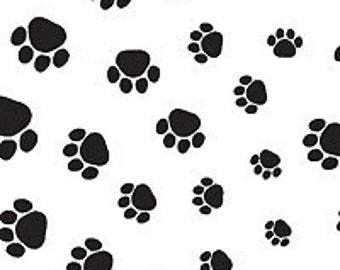 Puppy paw print tissue paper
