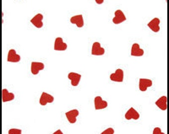 Red Heart Print Tissue Paper