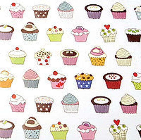 Cupcake Pictures To Print : Cupcake print tissue paper