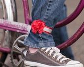 Petal Brite reflective carnation ankle corsage
