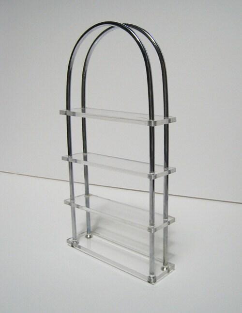 Miniature plexiglas metal etagere by mainethings on etsy - Etagere modulable metal ...