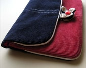 Pink and Purple Corduroy Pouch
