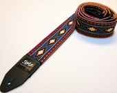 Southwestern Double Padded Handmade Guitar Strap - AZTEC - Rustic - Top Seller