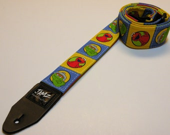 Children's TV show-themed handmade double padded guitar strap - This is NOT a licensed product